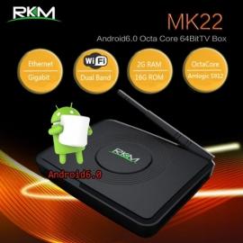 Rkm Mk22 Qcta Core 64bit 4k Android 6.0 Mini Pc 2g/16g,dual Band Wifi, Bt4.0 Elerkmmk22