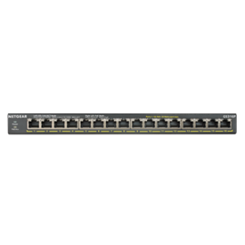 Netgear Soho 16-Port Poe+ Gigabit Unmanaged Switch (115W Poe Budget) Gs316P-100Ajs