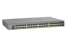 Netgear 48-Port 380W Gigabit Poe+ Ethernet Smart Managed Pro Switch With 4 Sfp Ports (Gs752Tpv2)
