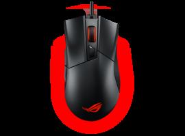 ASUS ROG Gladius II Core, wired optical gaming mouse, 6200 DPI, Aura Sync, Black, 1 Yr Warranty (ROG-GLADIUS-II-CORE)