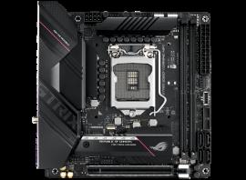 Asus Intel B560 LGA 1200 Mini-ITX motherboard with PCIe 4.0, WiFi 6 (802.11ax), Realtek 2.5 Gb Ethernet, ROG-STRIX-B560-I-GAMING-WIFI