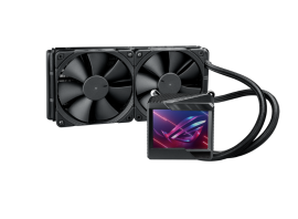 """Asus ROG RYUJIN II 240 AIO CPU COOLER with 3.5"""" LCD, embedded pump fan and 2x Noctua iPPC 2000 PWM 120mm radiator fans"""
