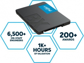 """Crucial Bx500 240Gb 2.5"""" Sata3 6Gb/S Ssd - 3D Nand 540/ 500Mb/S 7Mm 1.5 Mil Mtbf 3Yr Wty Acronis True Image Solid State Drive Ct240Bx500Ssd1-P"""