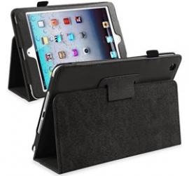 Ipad Mini Folding Protective Pu Leather Case Black
