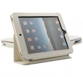 Ipad Mini Folding Protective Pu Leather Case White