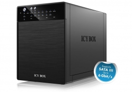 """Icy Box Ib-Rd3640Su3 External 4 Bay Raid System For 3.5"""" Sata I/ Ii/ Iii Hard Disks With Usb"""
