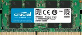 Crucial DDR4 16GB 3200Mhz (PC-25600) CL22 SR x8 Unbuffered Non-ECC SODIMM 260pin [CT16G4SFRA32A]