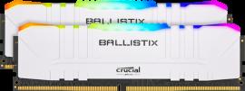 Crucial Ballistix 16GB Kit (8GBx2) DDR4 3600 MT/s (PC4-28800) CL16 Unbuffered DIMM 288pin WHITE RGB BL2K8G36C16U4WL