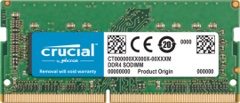 Crucial DDR4 32GB 2666Mhz (PC-21300) CL17 SR x8 Unbuffered Non-ECC SODIMM for Mac 260pin [CT32G4S266M]