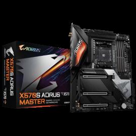 GIGABYTE X570S AORUS MASTER Motherboard, AM4, 4xDDR4, 6xSATA, 4xM.2, USB-C, WIFI-AX, ATX, 3YR