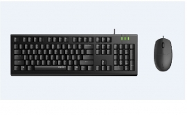 Rapoo X120Pro - Wired Keyboard And Mouse Combo Optical Combo Black/ 1600Dpi/ Spill Resistant X120-Pro