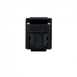 Cat 6 Rj45 Keystone Jack. Universal Termination (110/Katt). Push Dust Cover - 10 Pack Sy-504-180-Dbk