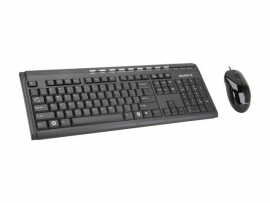 GIGABYTE Keyboard: USB Elegant Multimedia 9 Media and Internet Hot Keys & mouse combo GK-KM6150