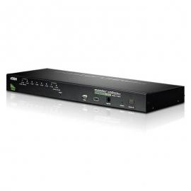 Aten 8 Port Rackmount Usb-Ps/ 2 Vga Kvmp Switch With Usb 2.0 Hub And Daisy Chain (Cs1708A-At-U)