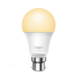 TP-Link Tapo Dimmable Smart Light Bulb L510B Bayonet Fitting Dimmable, No Hub Required, Voice Control, Schedule & Timer 2700K 8.7W 2.4 GHz 802.11b/g/n Tapo L510B