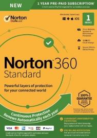 NORTON 360 STANDARD 10GB AU 1User 1Device 12MONTH ENR DVDSLV. 21396543
