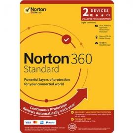 NORTON 360 STANDARD 10GB AU 1User 2Device 12MONTH ATTACH ENR DVDSLV 21396611