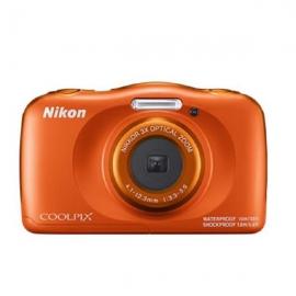 Nikon Digital Compact Camera COOLPIX W150, Orange,13.2MP, 3x Optical Zoom, Fixed Lense, f/3.3-5.9, 10m Waterproof VQA112AA