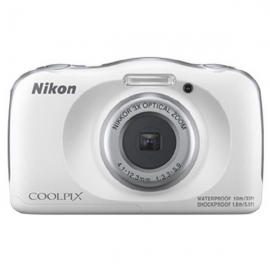Nikon Digital Compact Camera COOLPIX W150, White,13.2MP, 3x Optical Zoom, Fixed Lense, f/3.3-5.9, 10m Waterproof VQA110AA