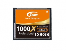 Team Group Memory Card Compact Flash Cf 128gb, 1000x, 120mb/s Write*, Lifetime Warranty Tcf128g100001