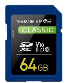 Team Classic Sd Memory Card 64 Gb. Tsdxc64Giv1001