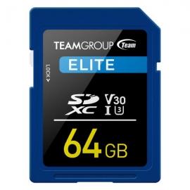 TEAMGROUP ELITE SDXC UHS-I U3 64GB High Speed Memory Card (TESDXC64GIV3001)