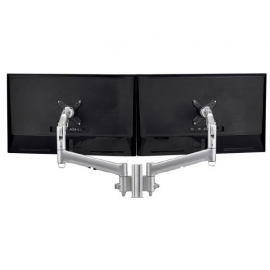 Atdec AWM Dual monitor mount solution on a 135mm post - Grommet Clamp - black (AWMS-2-D13G-B)