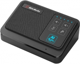 AVerMedia AS311 Professional Connections AI Speaker Phone, Seamless Audio Conference Speaker Mic (AS311)