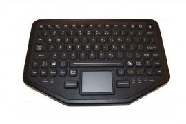 Ikey Bt-870-tp Rugged Dual Connectivity Keyboard With Touchpad (usb/ Bluetooth/ Vesa Mount) Bt-870-tp