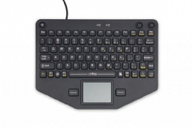 Ikey Sl-80-tp Compact Mobile Keyboard With Touchpad (usb/ Vesa Mount) Sl-80-tp