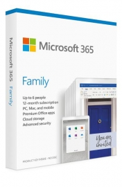 Microsoft Office 365 Family APAC DM Subscr 1YR Medialess P6 (6GQ-01143)