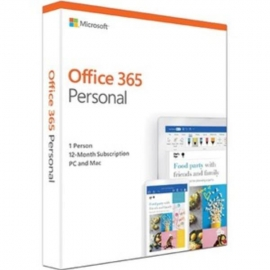 Microsoft Office 365 Personal QQ2-00982 , License Software, 1 Year Subscription, 1 Device, 32bit/64bit, Medialess, PC or MAC (QQ2-00982)