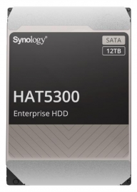 """Synology -Enterprise Storage drives for Synology systems , 3.5"""" SATA Hard drive, HAT5300 , 12TB, 5 year Warranty (HAT5300-12T)"""