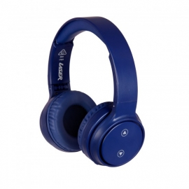 Laser Bluetooth Headphone On-Ear With Hands-Free Navy Blue - Moq 4 Ao-Headb18-N