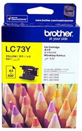 Brother YELLOW HIGH YIELD INK CARTRIDGE - UP TO 600 PAGES (LC-73Y)