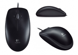 Logitech 910-003301/5005 Mouse: M100R USB Black, 1000 dpi (910-003301/5005)