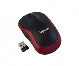 Logitech M185 Wireless Mouse: USB Wireless Mouse 1000dpi (M185 Red)