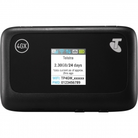 Telstra 4Gx Wi-Fi Plus Prepaid (Mf910Y) (Locked To Telstra) - Connect Up To 10 Wi-Fi Enabled Devices Colour Lcd Screen To Monitor Connection Status Mf910Y
