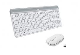 Logitech 920009183 Keyboard & Mouse: MK470 Slim Wireless Keyboard and Mouse WHITE