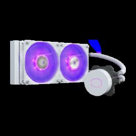 COOLERMASTER MASTERLIQUID LITE ML240L V2 RGB CPU COOLER, RGB, 2X120MM RGB FAN 240MM, WHITE MLW-D24M-A18PC-RW