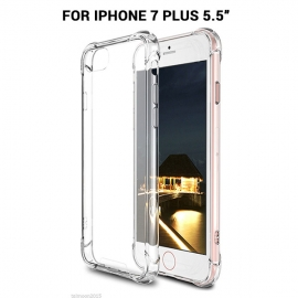 Iphone 7 Plus Shockproof Slim Soft Bumper Hard Back Case Cover Protector Clear Color Mobvmxip7plusclcase