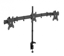 """Visionmount Mp330c - Deskclamp Three Lcd Monitor Support Up To 27"""", Tilt -15/+15, Rotate 360,"""