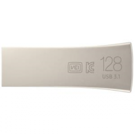 Samsung 128Gb Bar Plus Usb Drive Champagne Silver Metallic Chassis Usb3.1 Up To 300Mb/ S 5 Years
