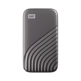 WD My Passport SSD, 500GB, Gray color, USB 3.2 Gen-2, Type C & Type A compatible, 1050MB/s (Read) and 1000MB/s (Write) WDBAGF5000AGY-WESN
