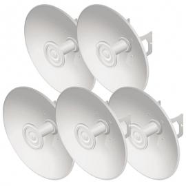 Ubiquiti PrismStation / IsoStation / LTU Compatible 27 dBi Hi-Gain Reflector Dish with Mounting Kit - 5 Pack (U-OMT-DISH-5)
