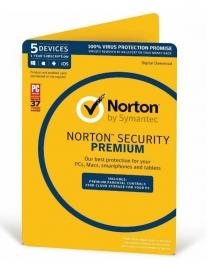 Symantec 2031312 OEM Norton Security Premium - 5 Device 1 Year, OEM, PC/Mac/Android/iOS,
