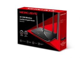 Mercusys Ac12G Ac1200 Wireless Dual Band Gigabit Router 300Mbps@2.4Ghz 867Mbps@5Ghz 4 5Dbi Fixed Omni Directional Antennas Ac12G