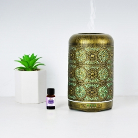 Mbeat Activiva Metal Essential Oil And Aroma Diffuser-Vintage Gold