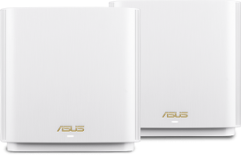 ASUS AX6600 TRI-BAND MESH GIGABIT ROUTER 802.11AX, GbE(4), USB 3.1 ANT(6) WHITE,3YR (ZENWIFI-XT8)