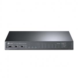 TP-Link 24-Port 10/100Mbps + 2-Port Gigabit Unmanaged PoE+ Switch, Isolation Mode, Plug and Play, Fanless (TL-SL1311MP)